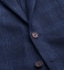 Zoom Thumb Image 2 of Hudson Navy and Blue Check Textured Wool Jacket