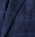 Zoom Thumb Image 5 of Hudson Navy and Blue Check Textured Wool Jacket