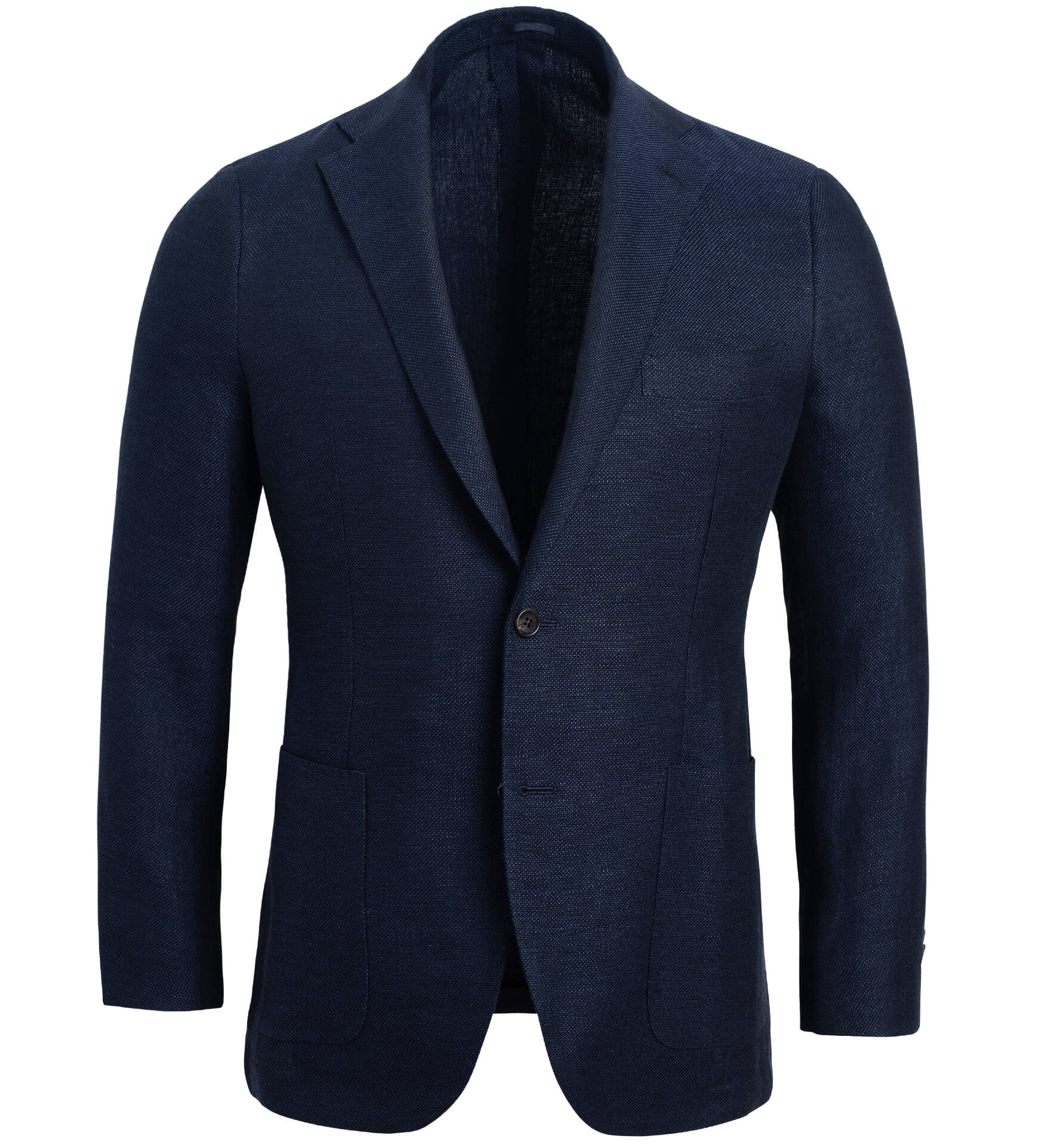Zoom Image of Bedford Navy Linen and Wool Hopsack Jacket