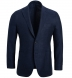 Zoom Thumb Image 1 of Bedford Navy Linen and Wool Hopsack Jacket