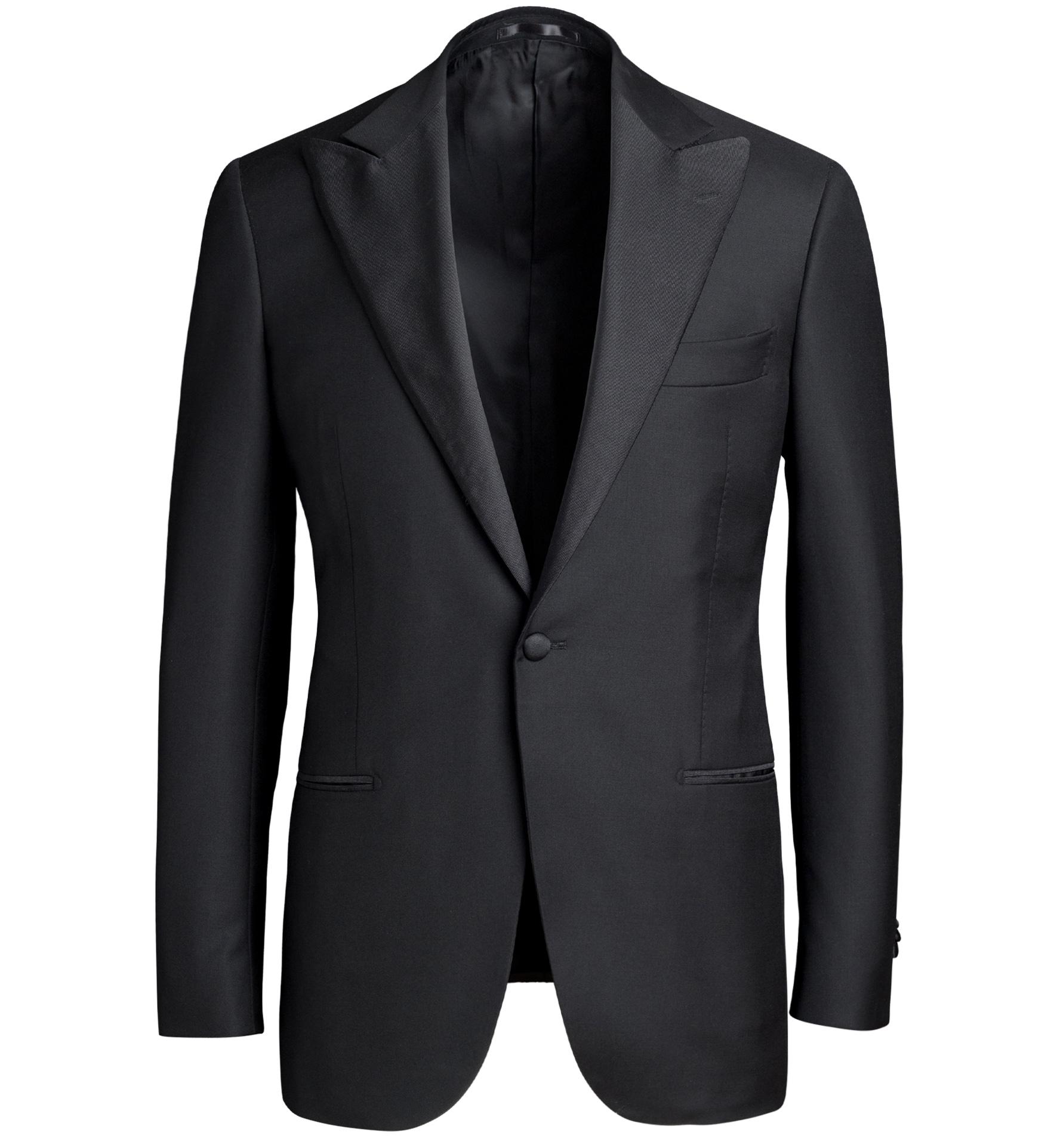 Zoom Image of Mayfair Black Wool and Linen Tuxedo Jacket