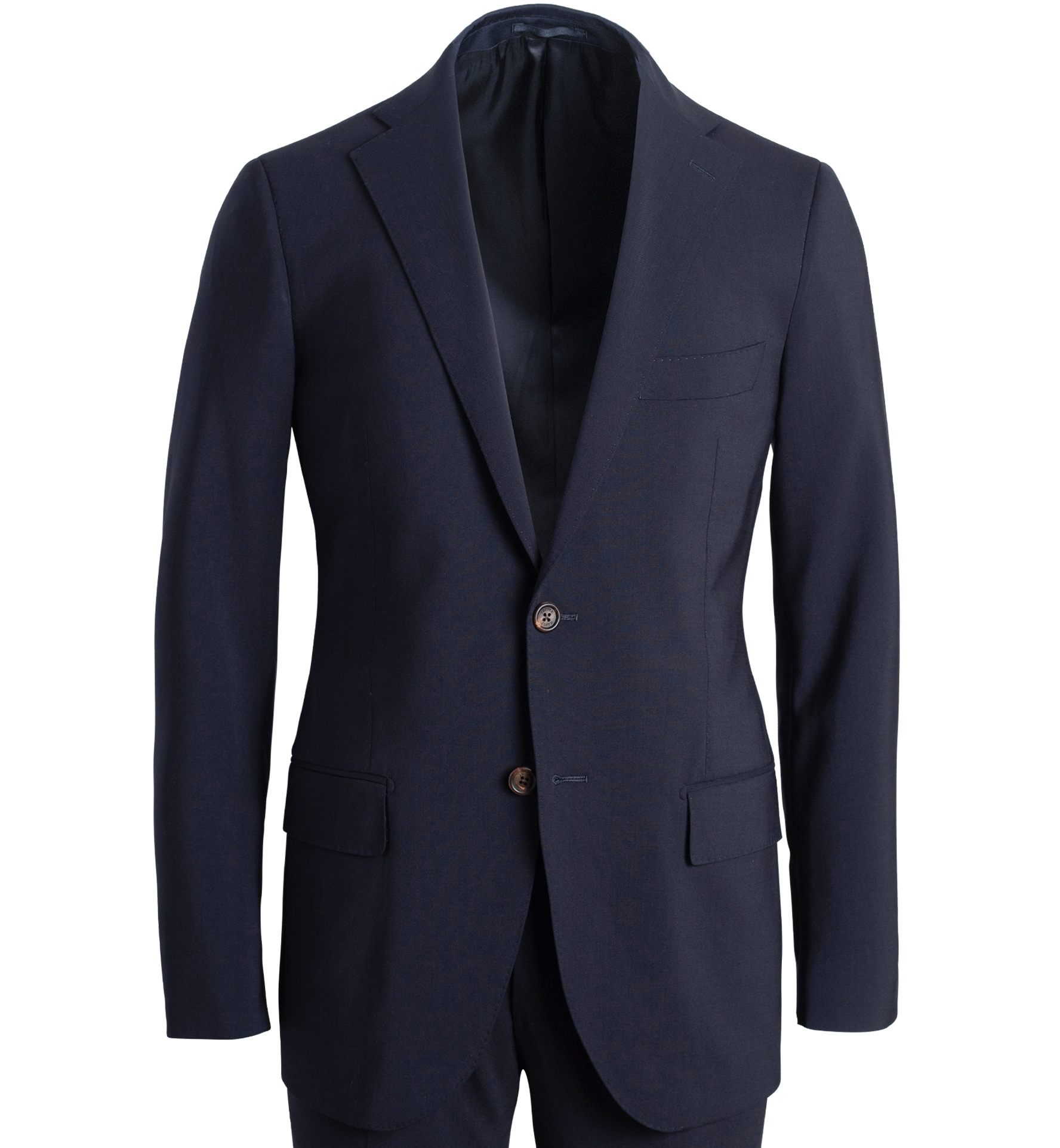 Zoom Image of Allen Navy Stretch Tropical Wool Suit Jacket