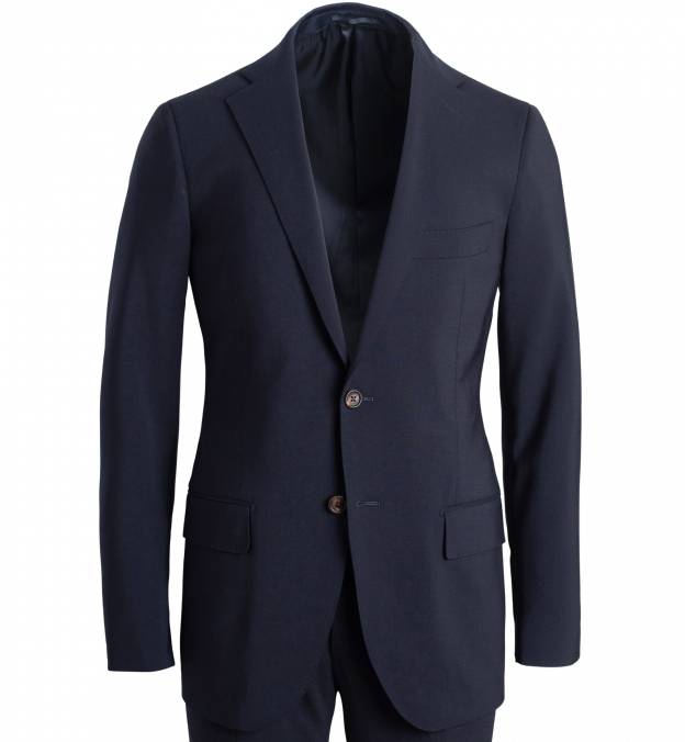 Allen Navy Stretch Tropical Wool Suit Jacket