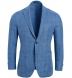 Zoom Thumb Image 1 of Bedford Light Blue Windowpane Linen and Wool Jacket