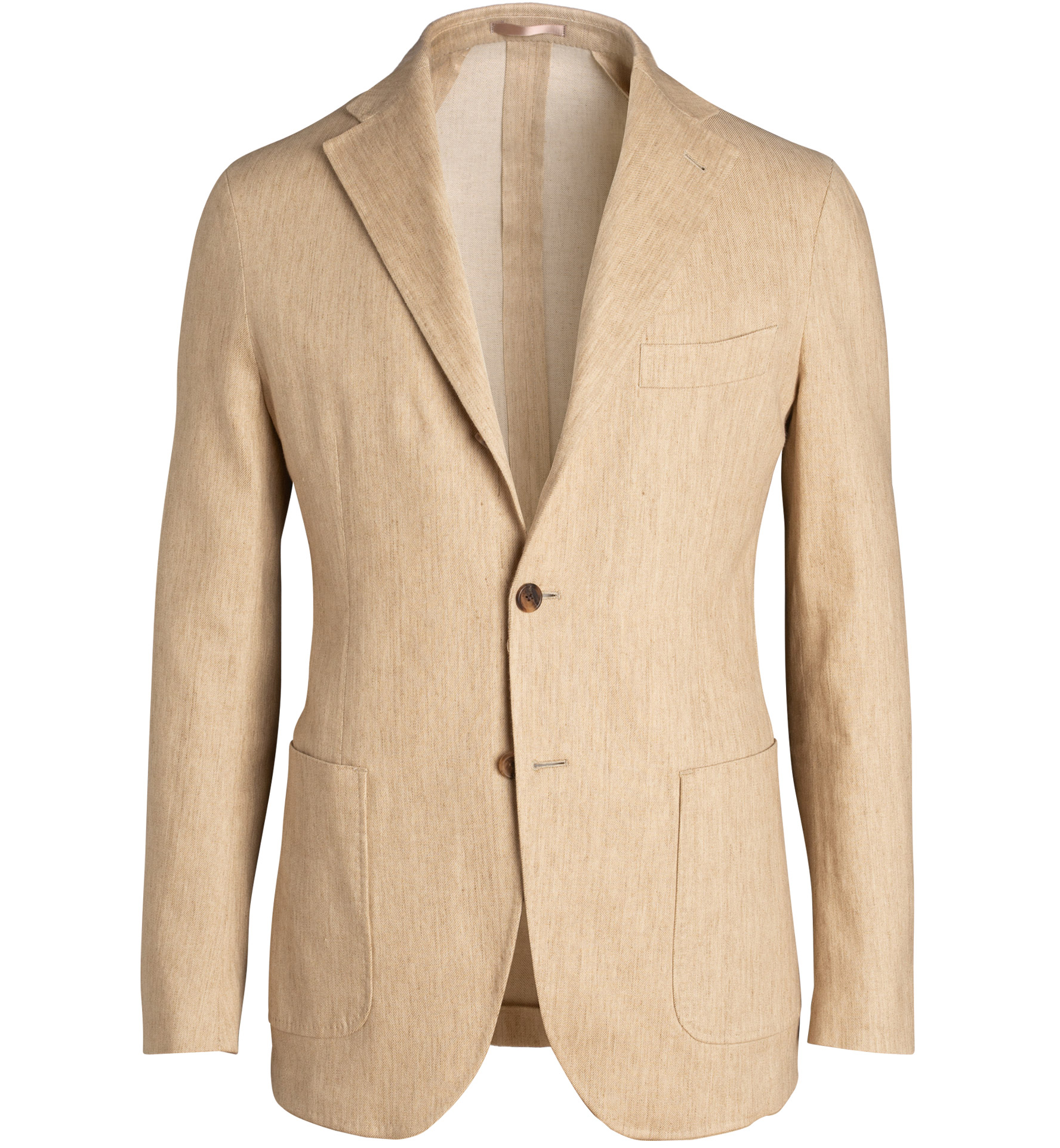 Zoom Image of Waverly Beige Stretch Cotton and Linen Twill Jacket