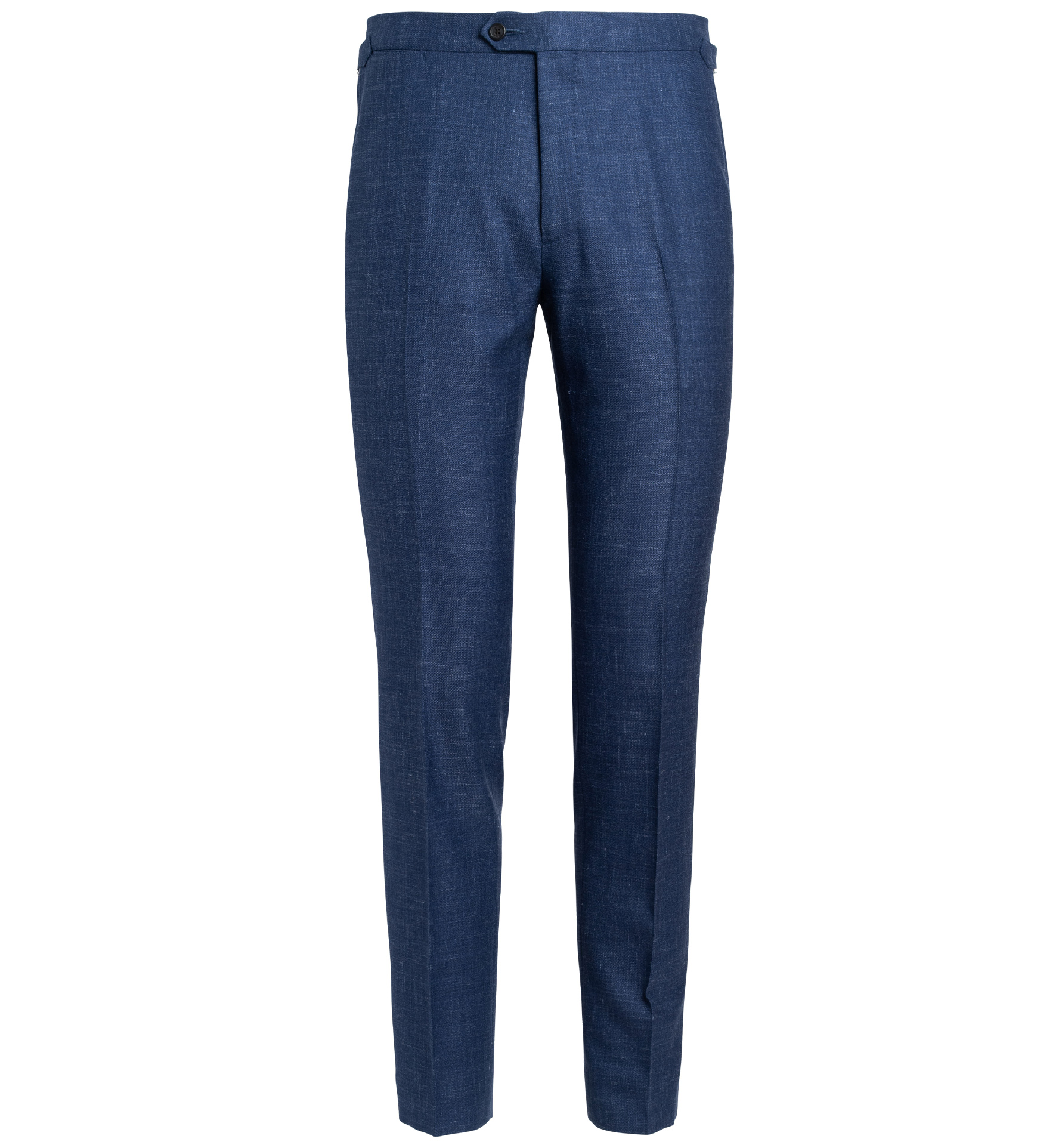 Zoom Image of Allen Royal Blue Wool Silk and Linen Trouser