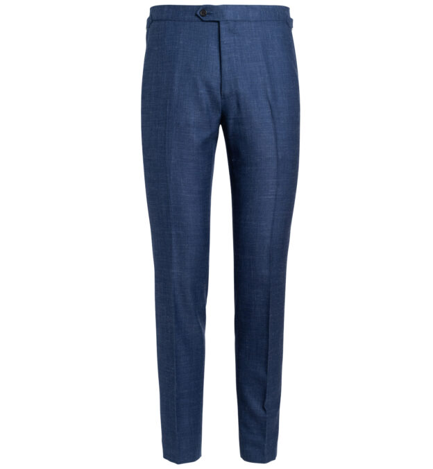 Allen Faded Navy Wool Silk and Linen Trouser