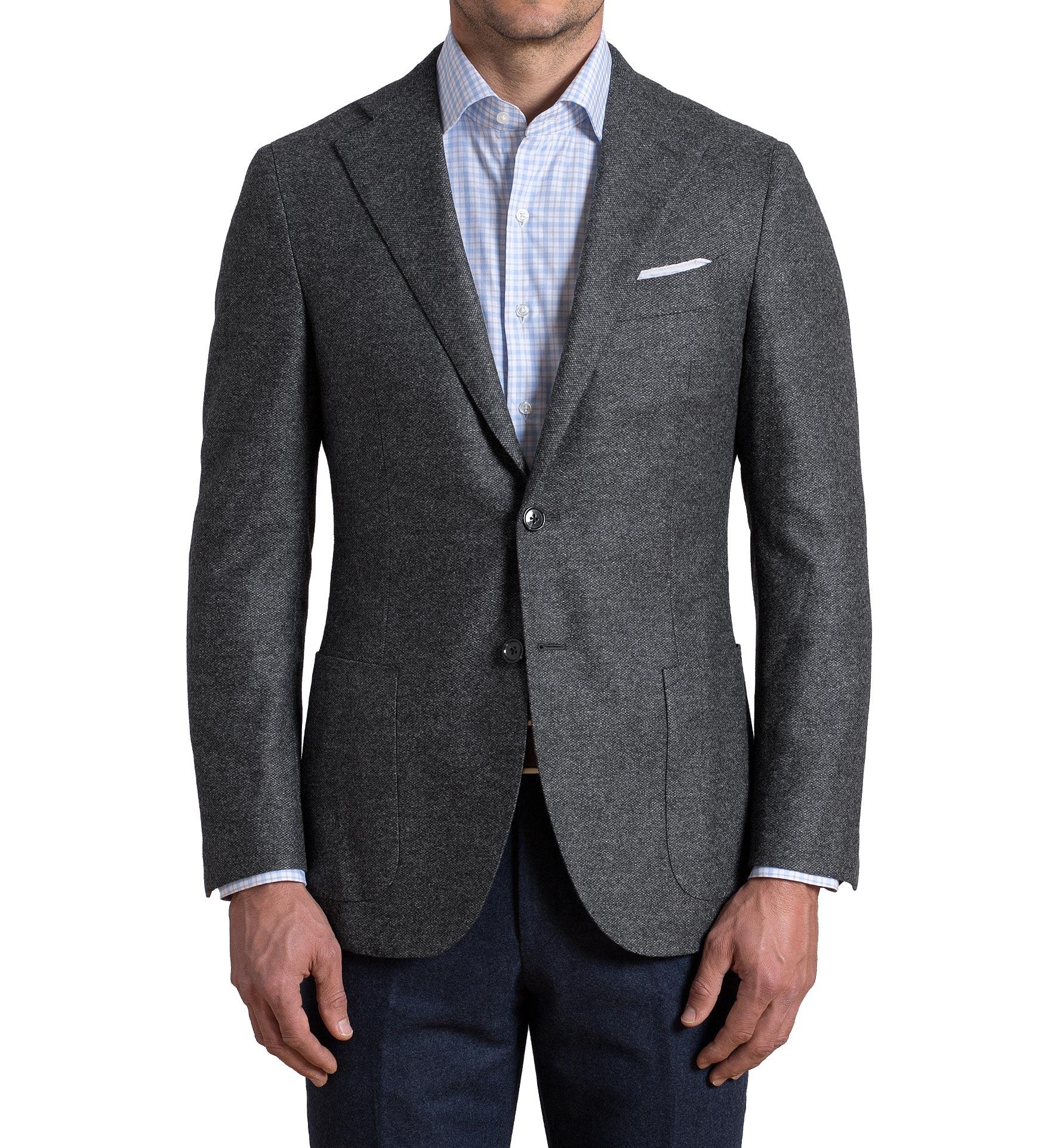 Zoom Image of Hudson Grey Birdseye Wool Flannel Jacket