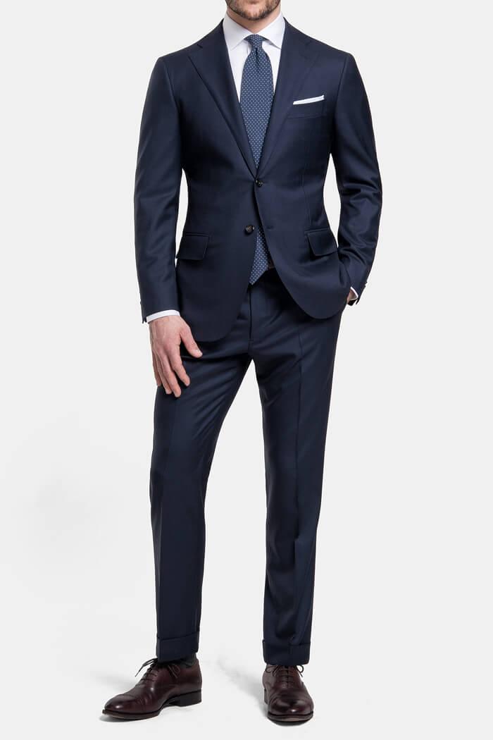 Mercer Navy S150s Wool Suit