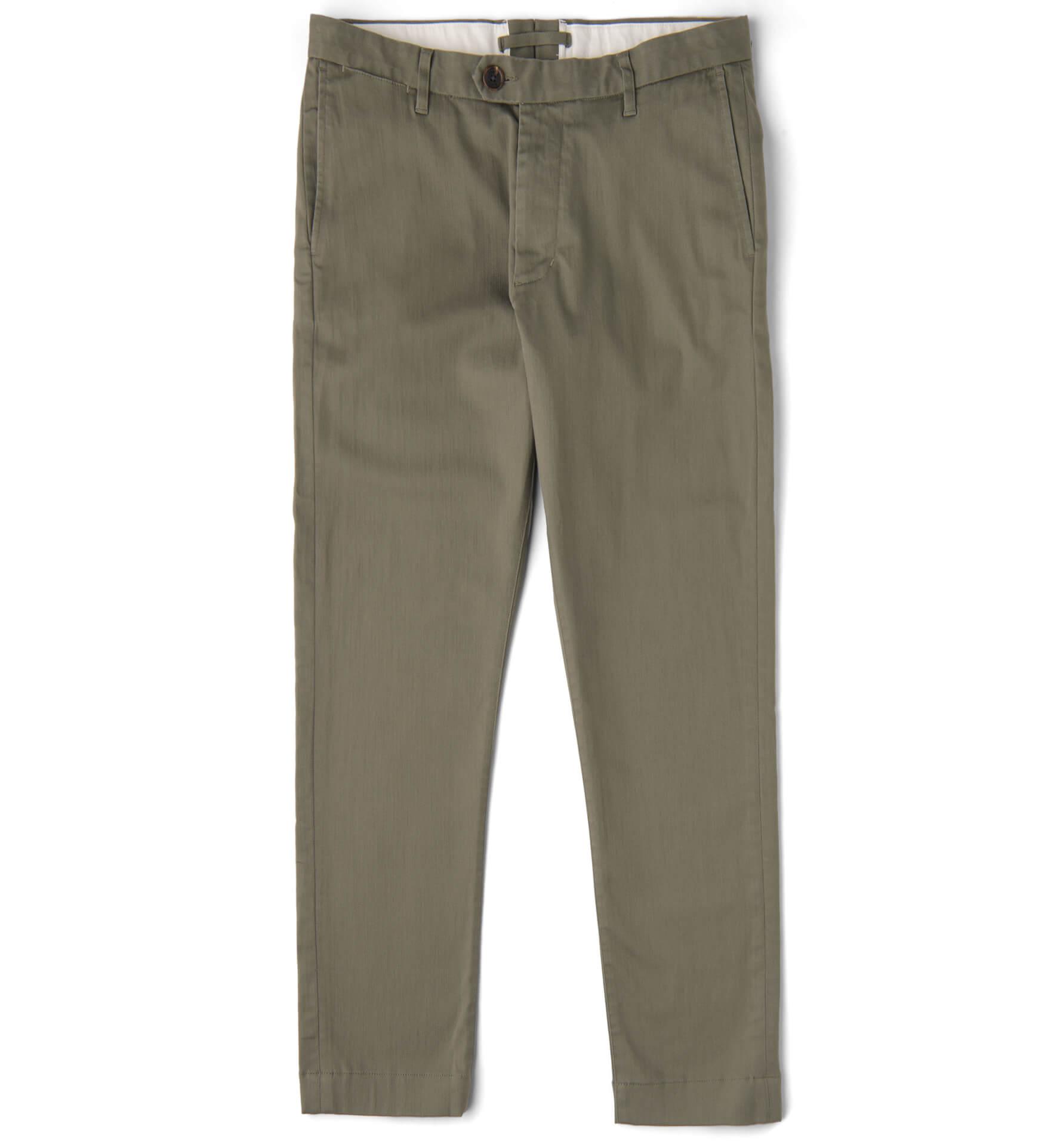 Zoom Image of Bowery Fatigue Cotton and Tencel Slub Twill Chino