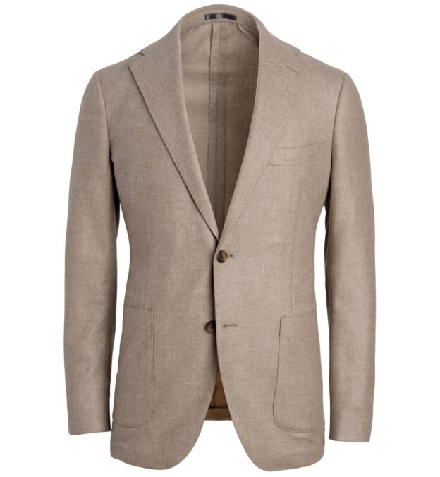Bedford Beige Textured Wool and Cashmere Jacket