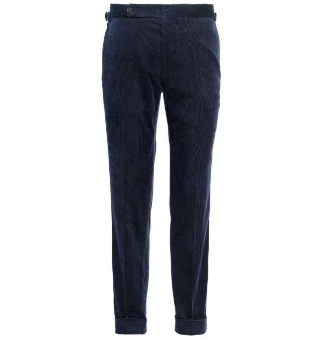 Allen Navy Stretch Corduroy Trouser