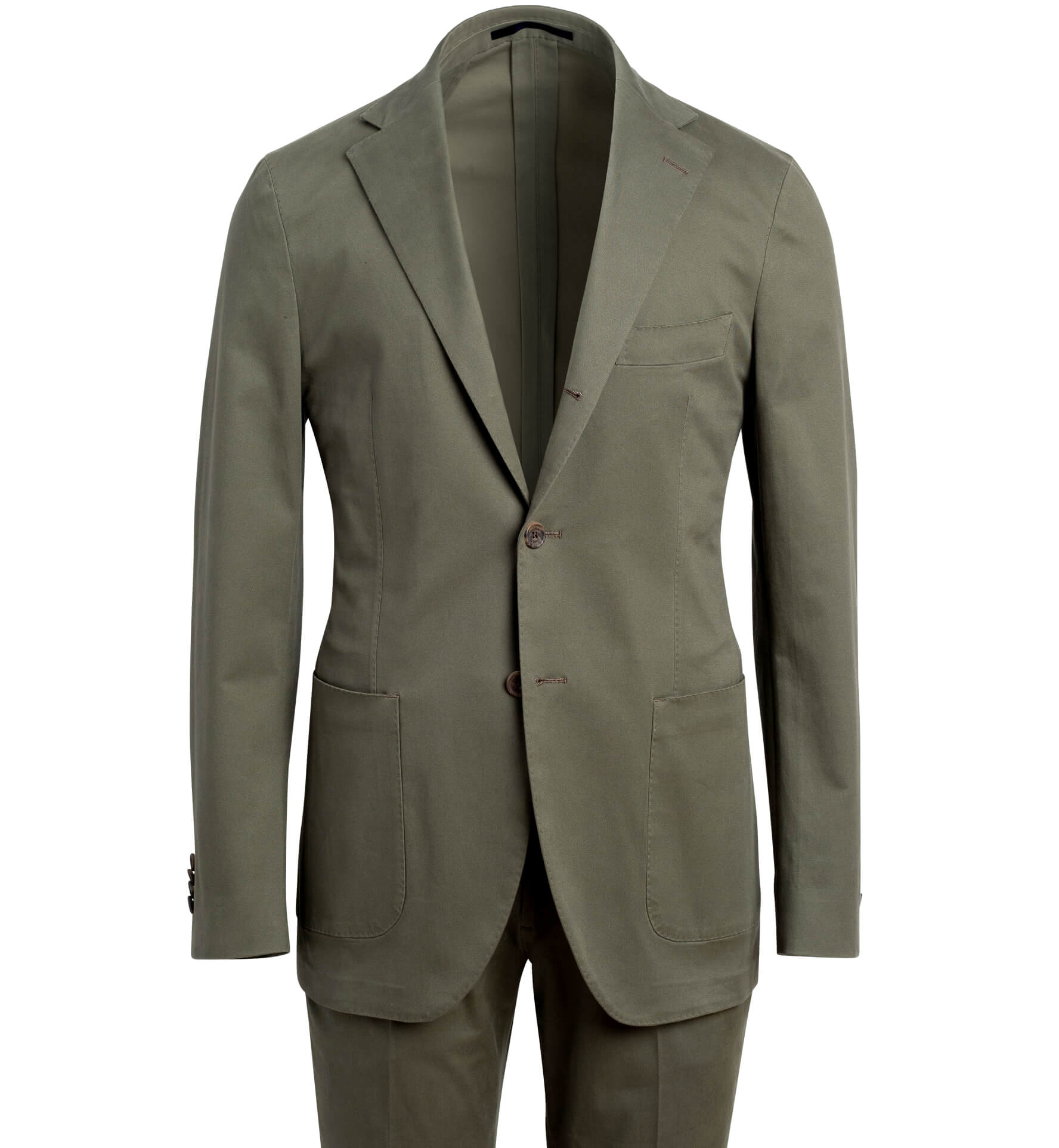 Zoom Image of Waverly Fatigue Stretch Cotton Suit
