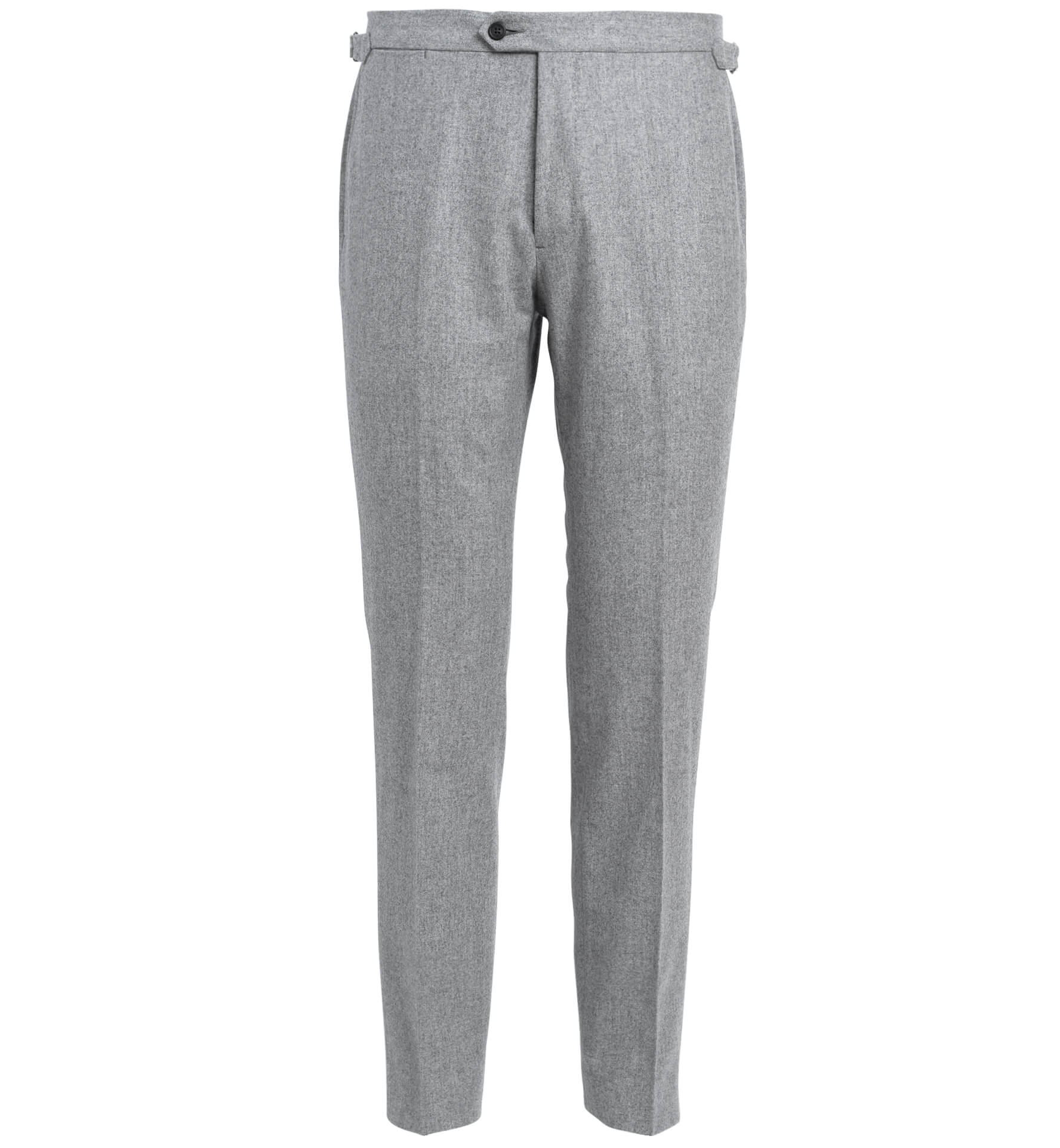 Zoom Image of Allen Light Grey Flannel Trouser