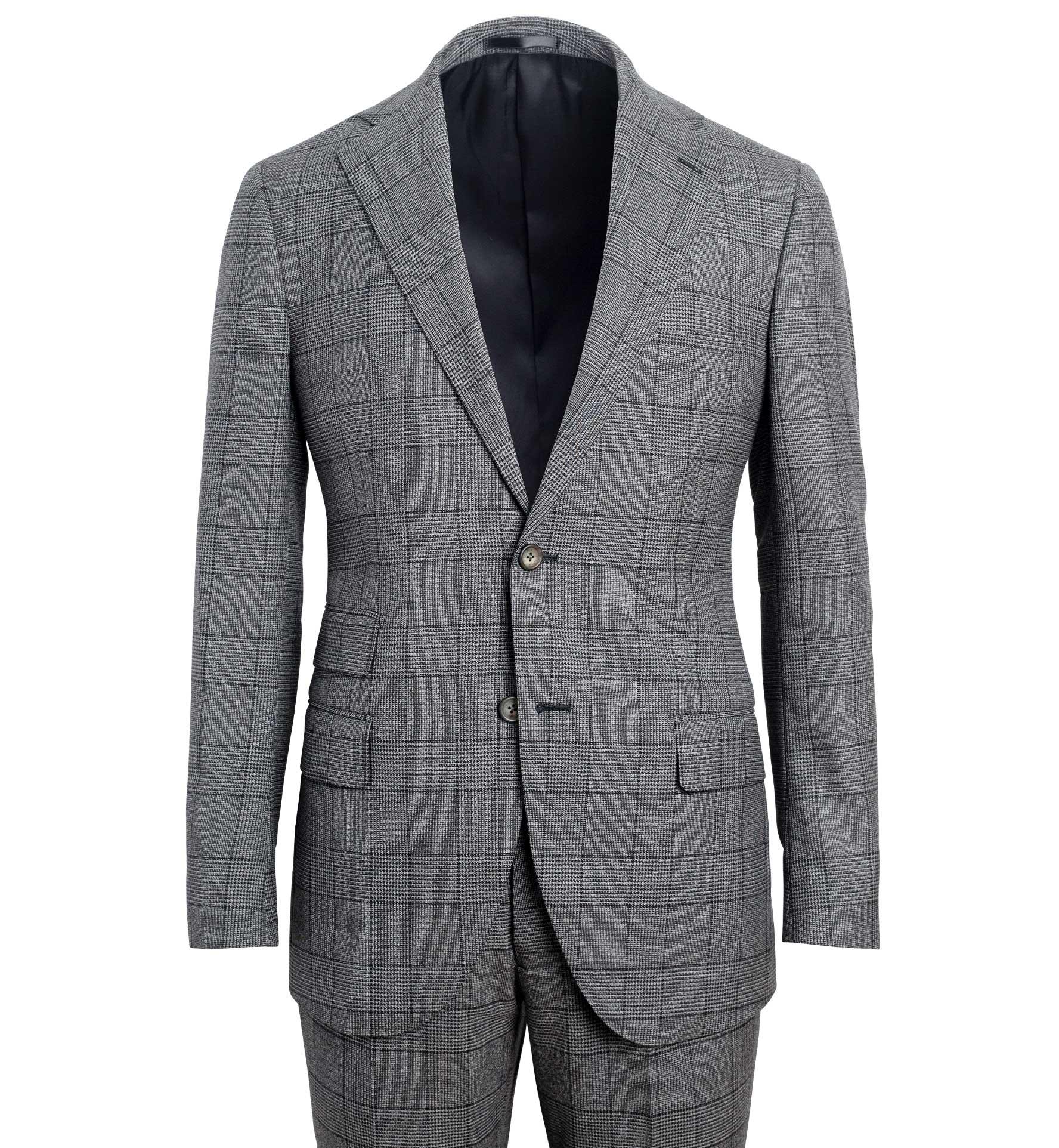 Zoom Image of Allen Grey Melange S130s Glen Plaid Suit