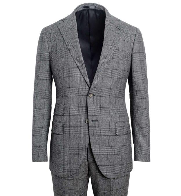 Allen Grey Melange S130s Glen Plaid Suit