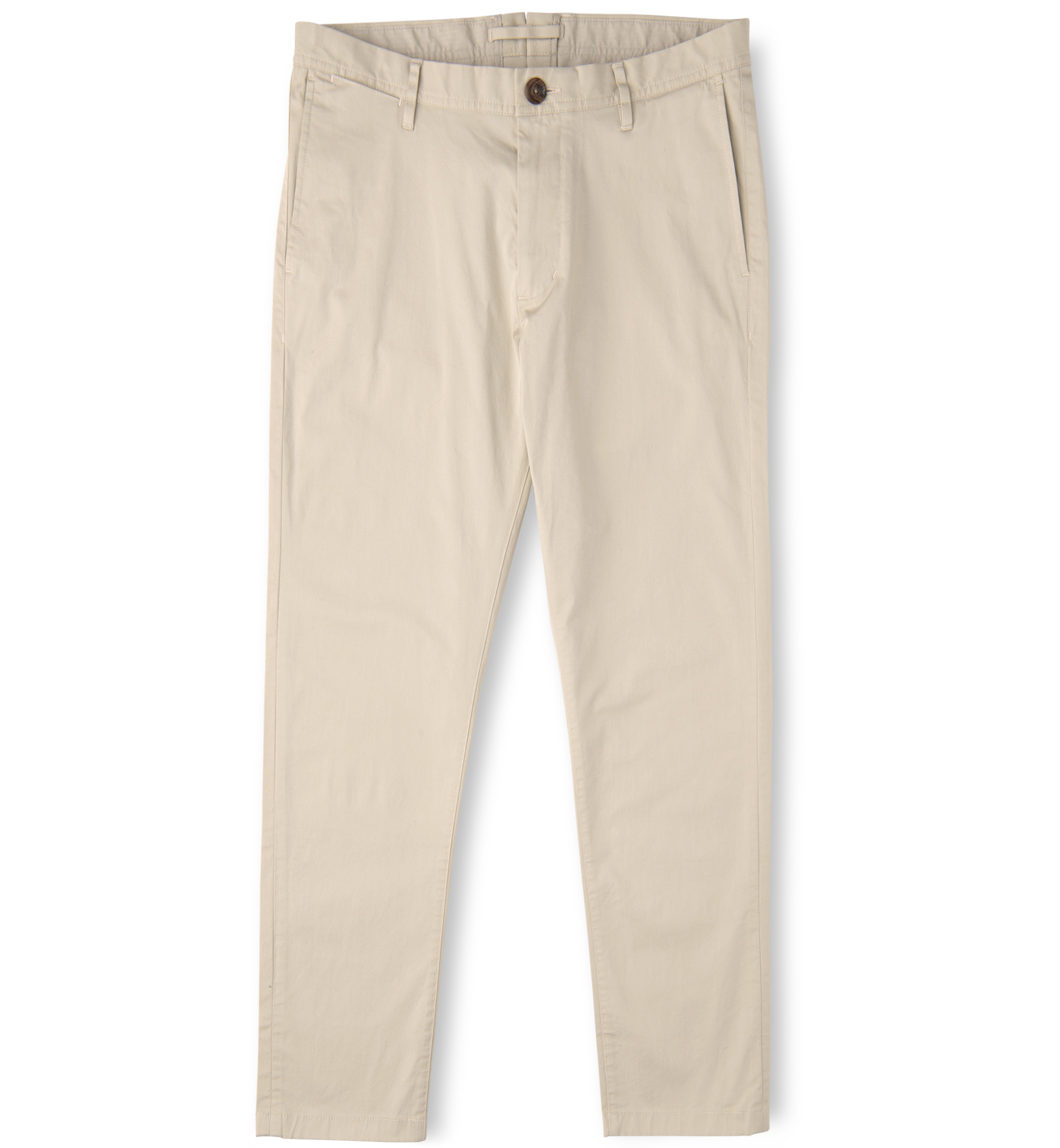 Zoom Image of Bowery Beige Stretch Cotton Twill Chino