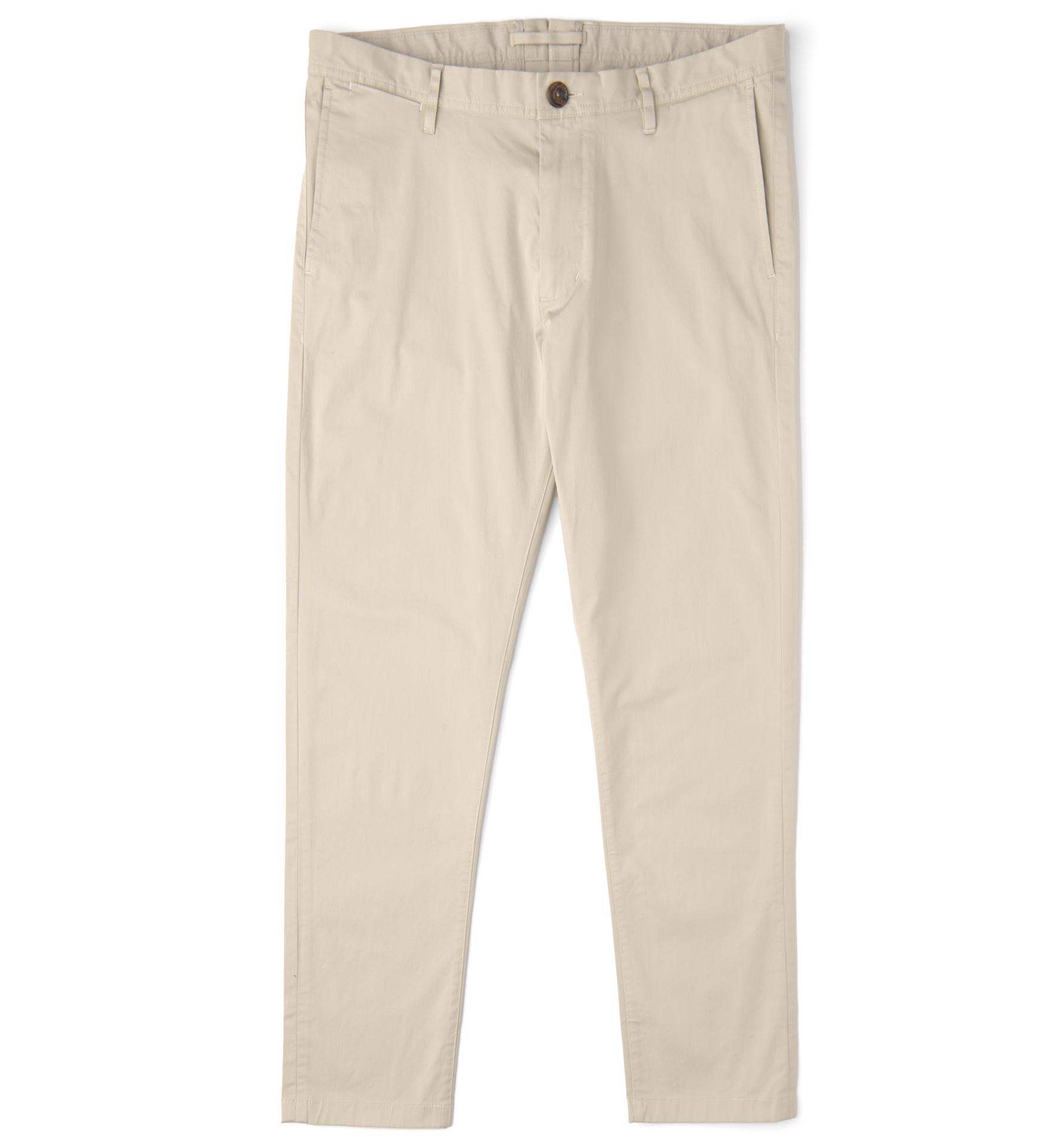 Zoom Image of Bowery Beige Lightweight Stretch Cotton Twill Chino