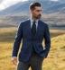 Zoom Thumb Image 3 of Hudson Ocean Blue Wool Flannel Hopsack Jacket