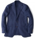 Zoom Thumb Image 1 of Hudson Navy Basketweave Wool Flannel Jacket
