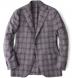 Zoom Thumb Image 2 of Hudson Grey Plaid Wool and Cashmere Flannel Jacket