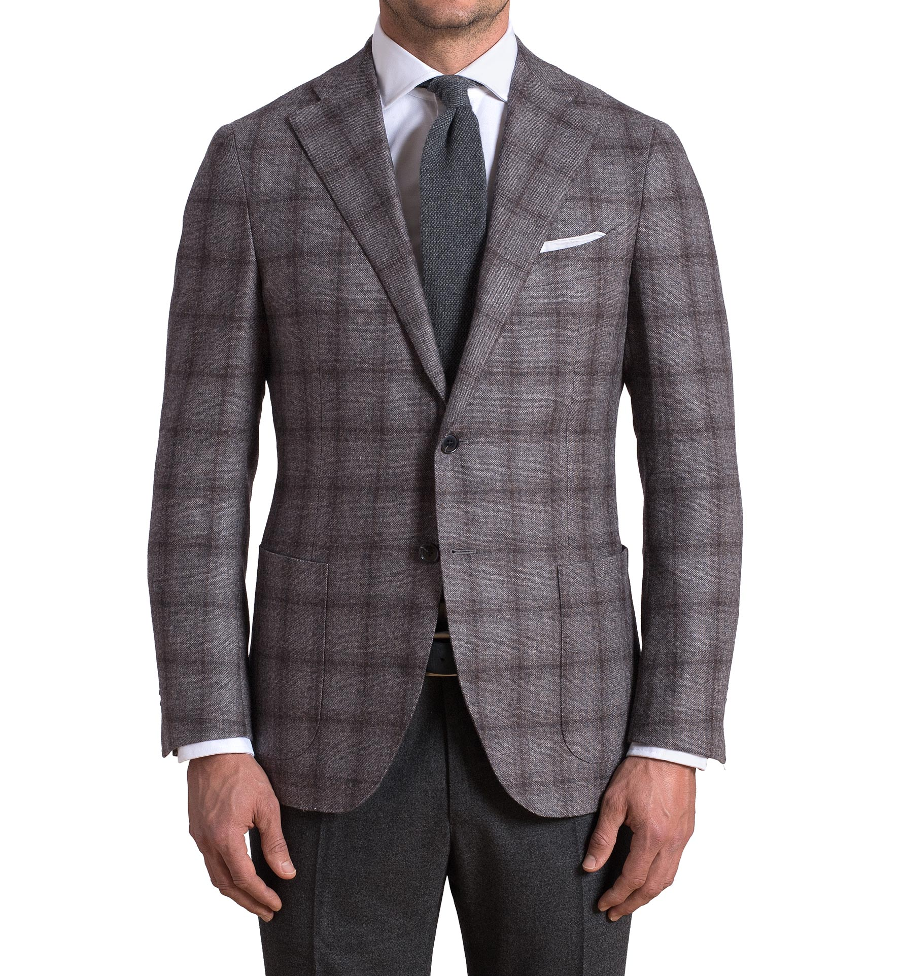 Zoom Image of Hudson Grey Plaid Wool and Cashmere Flannel Jacket