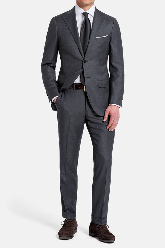Allen Grey S110s Wool Suit