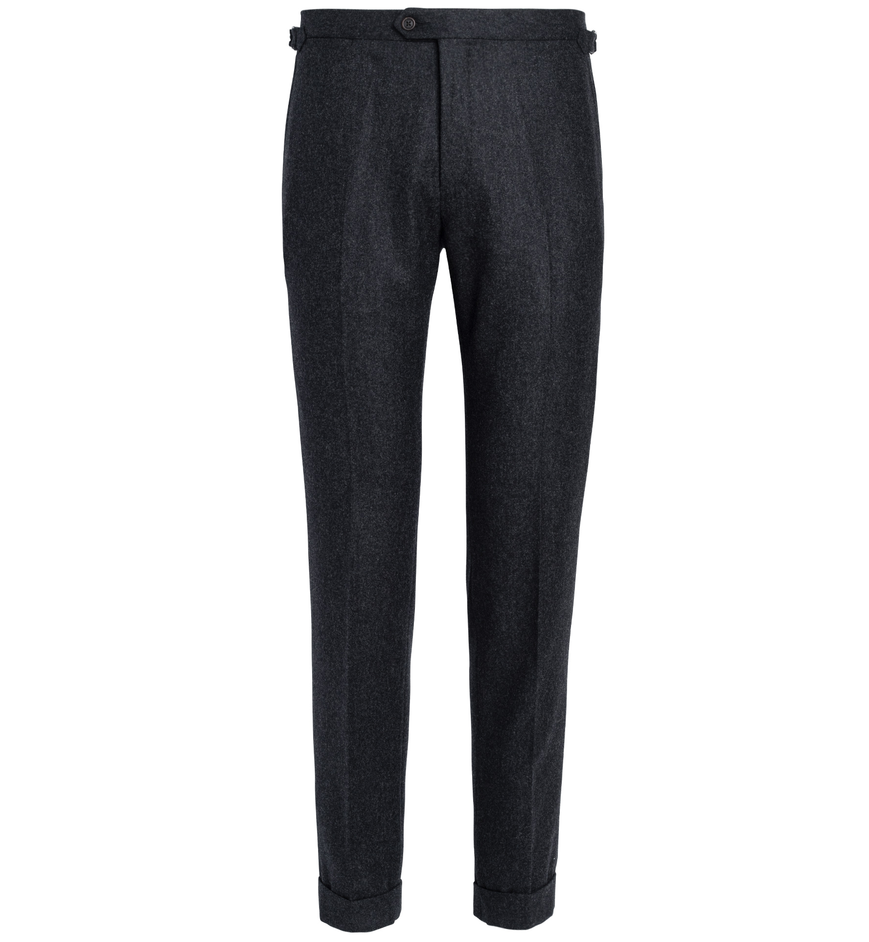 Zoom Image of Allen Charcoal Wool Flannel Trouser