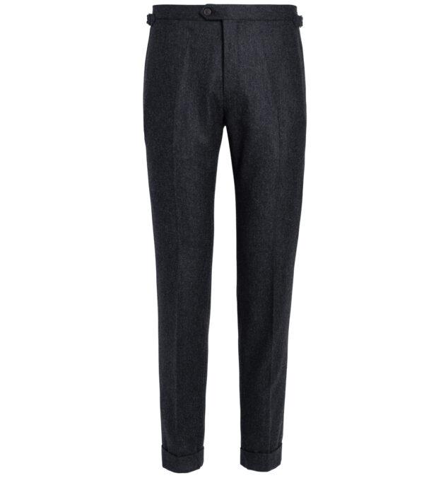 Allen Charcoal Wool Flannel Trouser