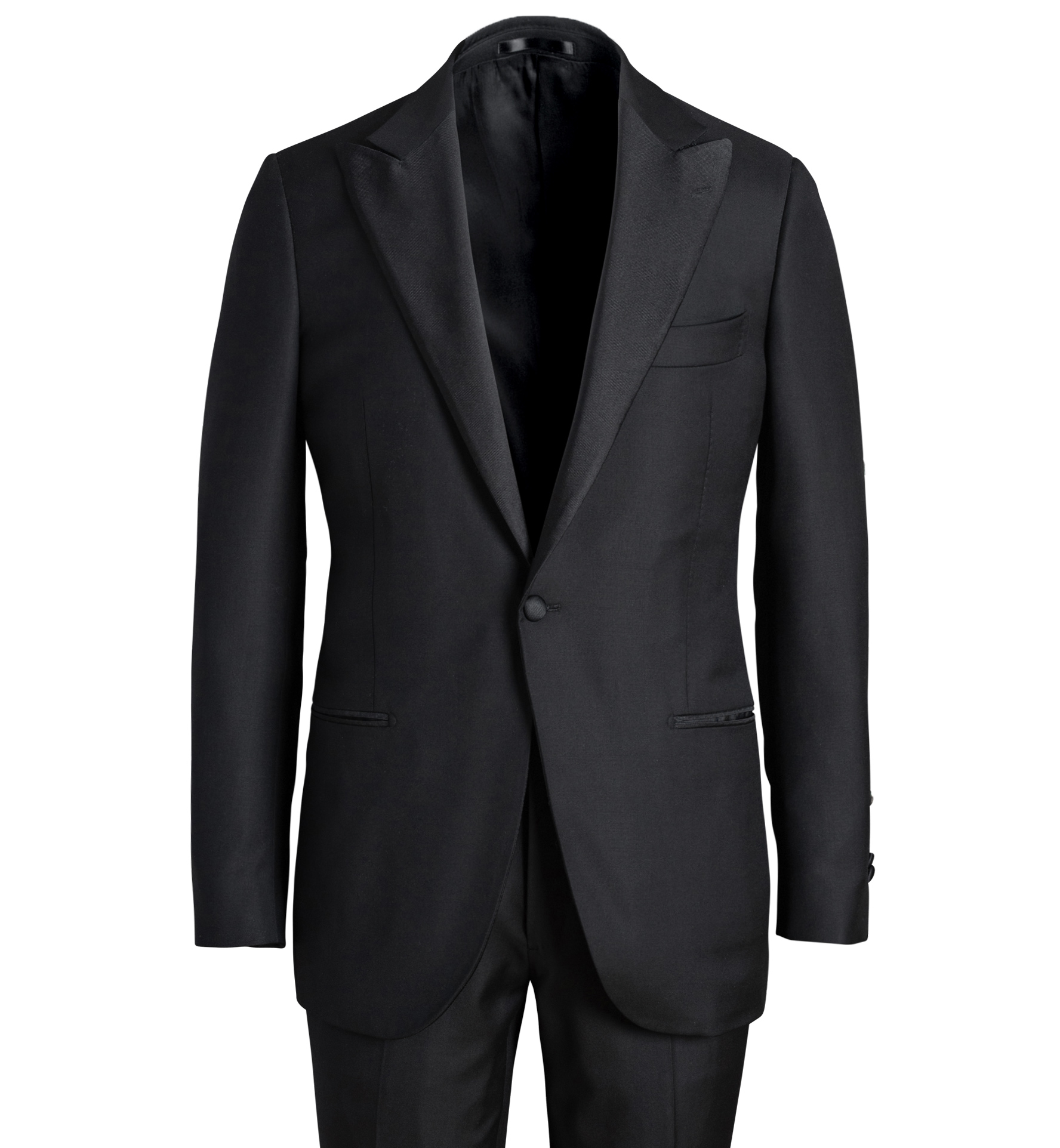 Zoom Image of Mayfair Black Wool Tuxedo