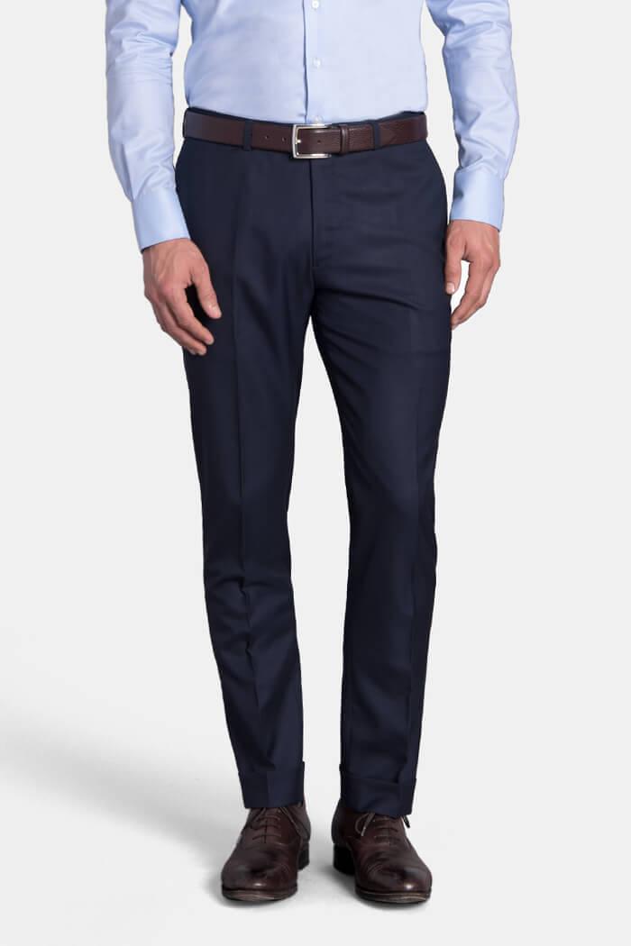 Mercer Navy S150s Wool Trouser