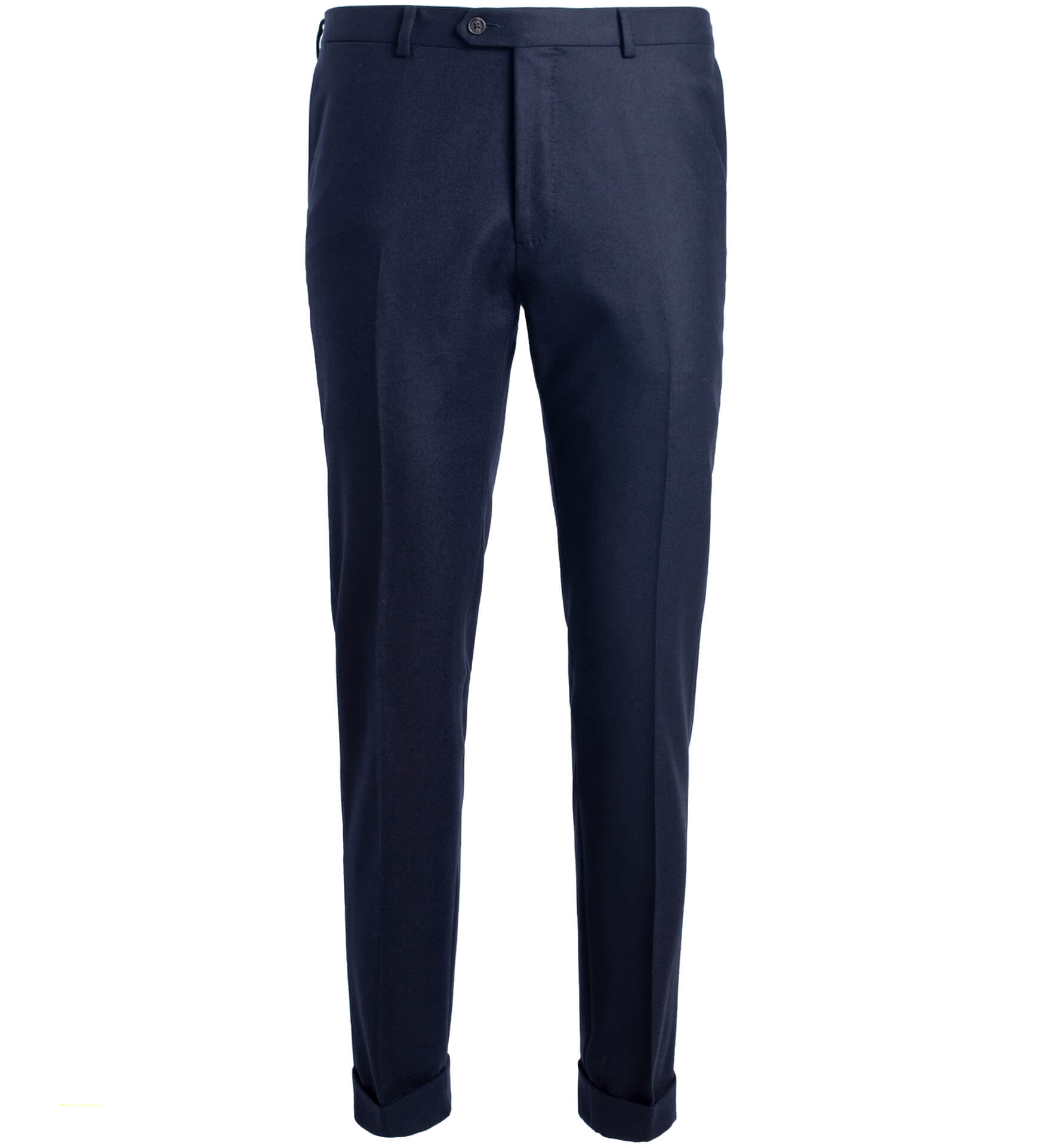 Zoom Image of Allen Navy Wool Flannel Trouser