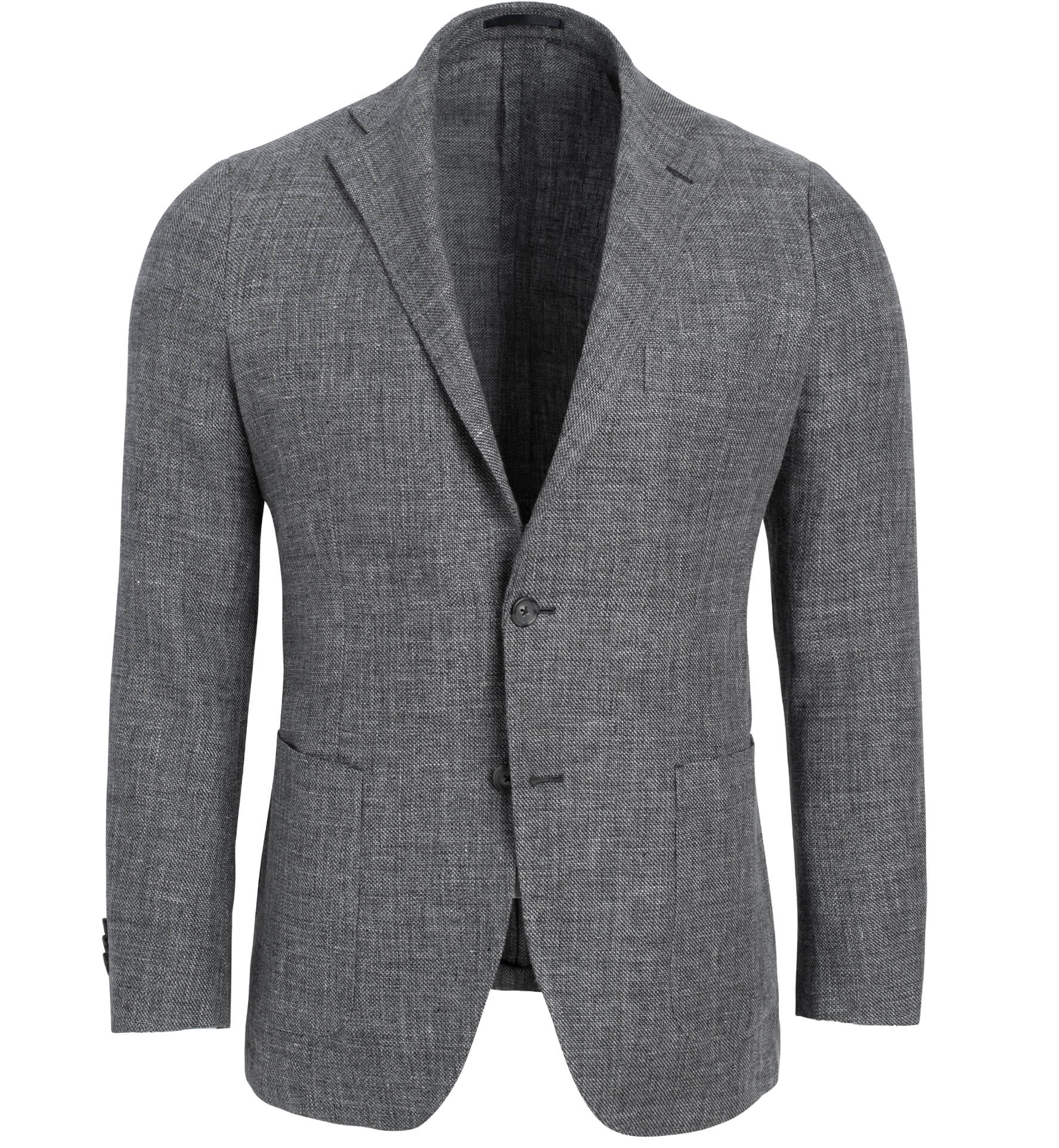 Zoom Image of Bedford Grey Linen and Wool Hopsack Jacket
