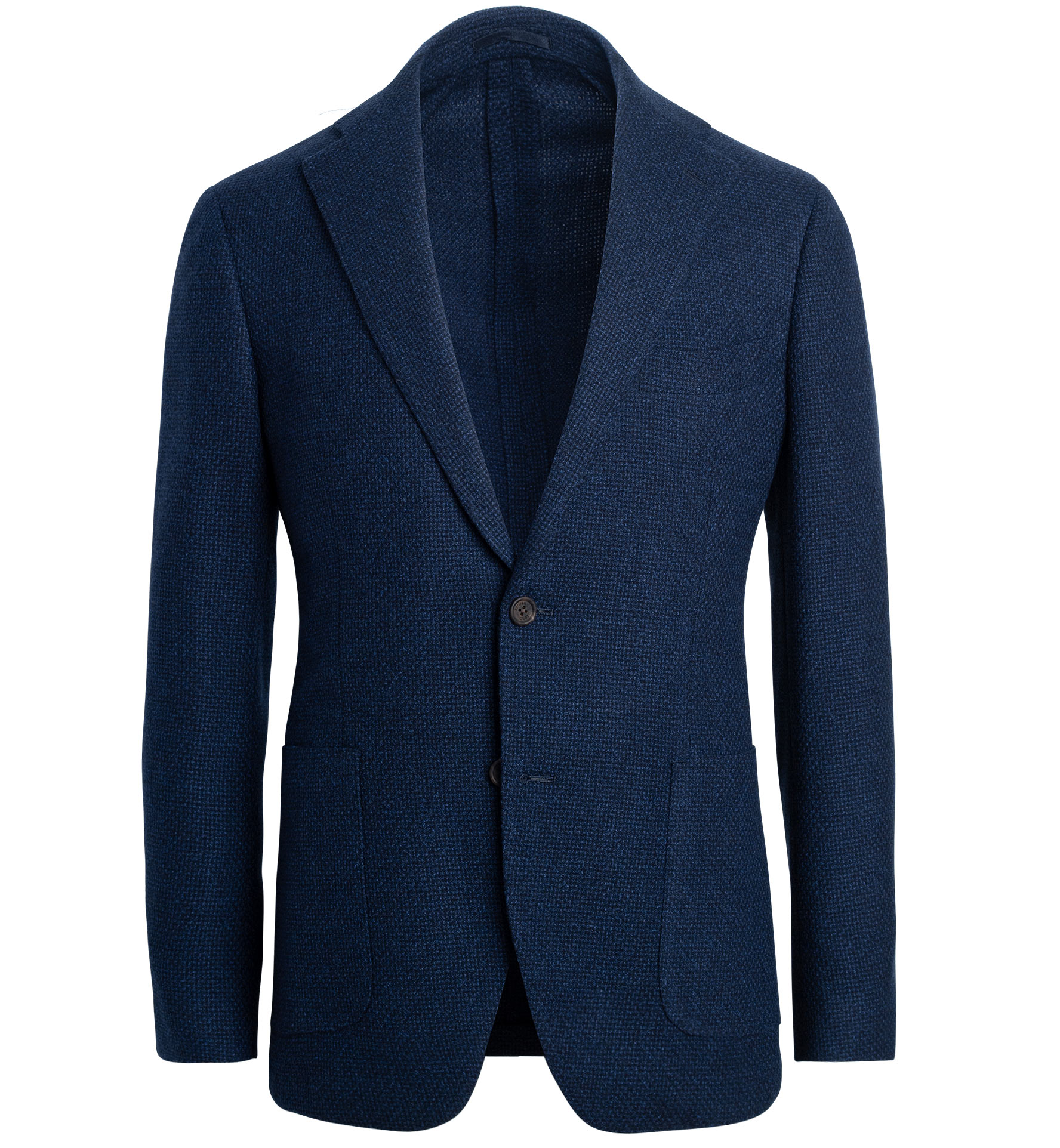 Zoom Image of Bedford Faded Navy Textured Stretch Wool Jacket