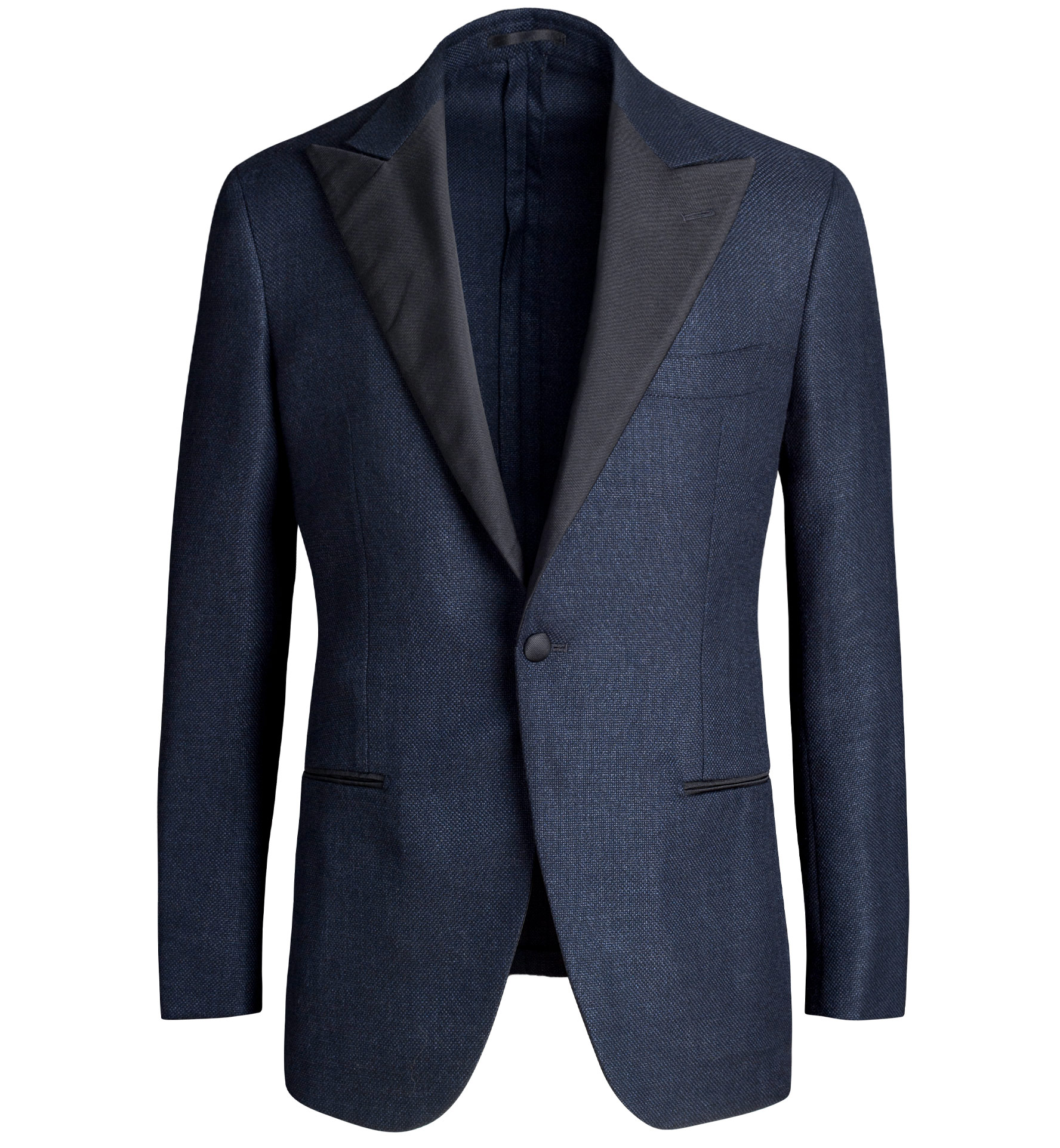 Zoom Image of Mayfair Navy Summer Hopsack Dinner Jacket