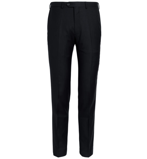Allen Black S110s Wool Trouser