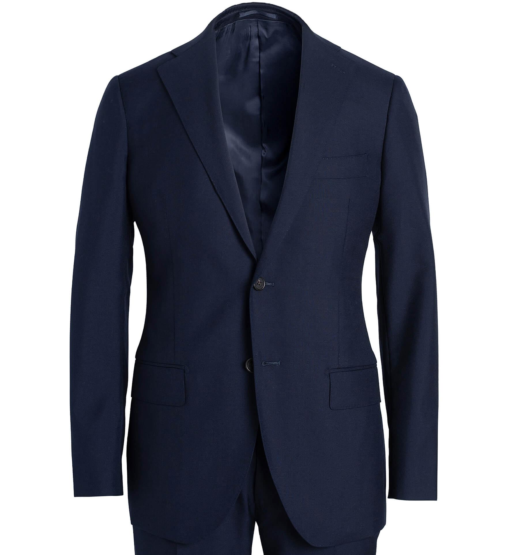 Zoom Image of Allen Navy Tropical Wool Fresco Suit Jacket
