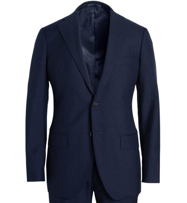 Allen Navy Tropical Wool Fresco Suit Jacket