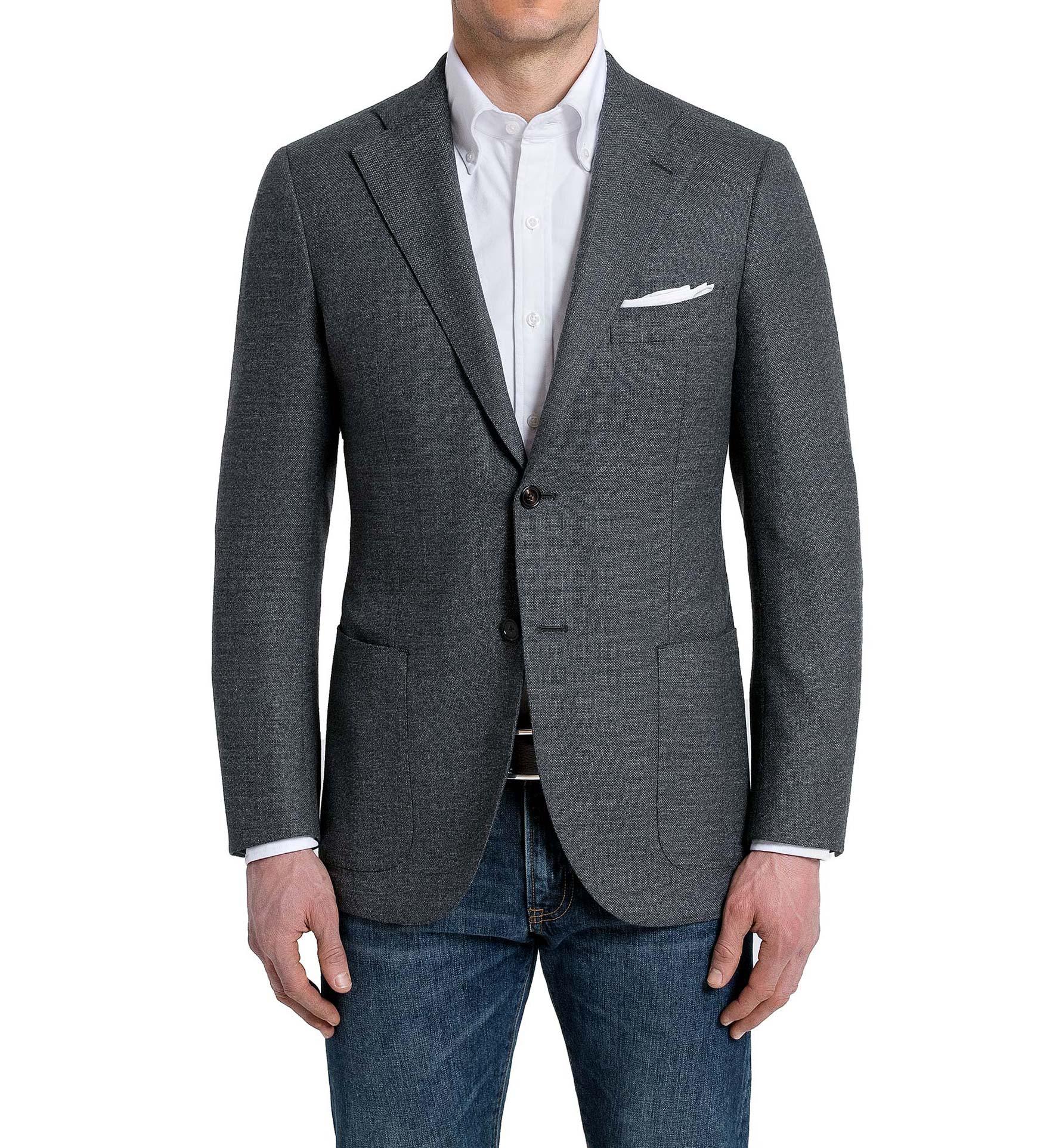 Zoom Image of Bedford Grey Brushed Hopsack Jacket