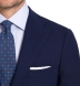 Zoom Thumb Image 1 of Allen Navy Fresco Suit with Cuffed Trouser