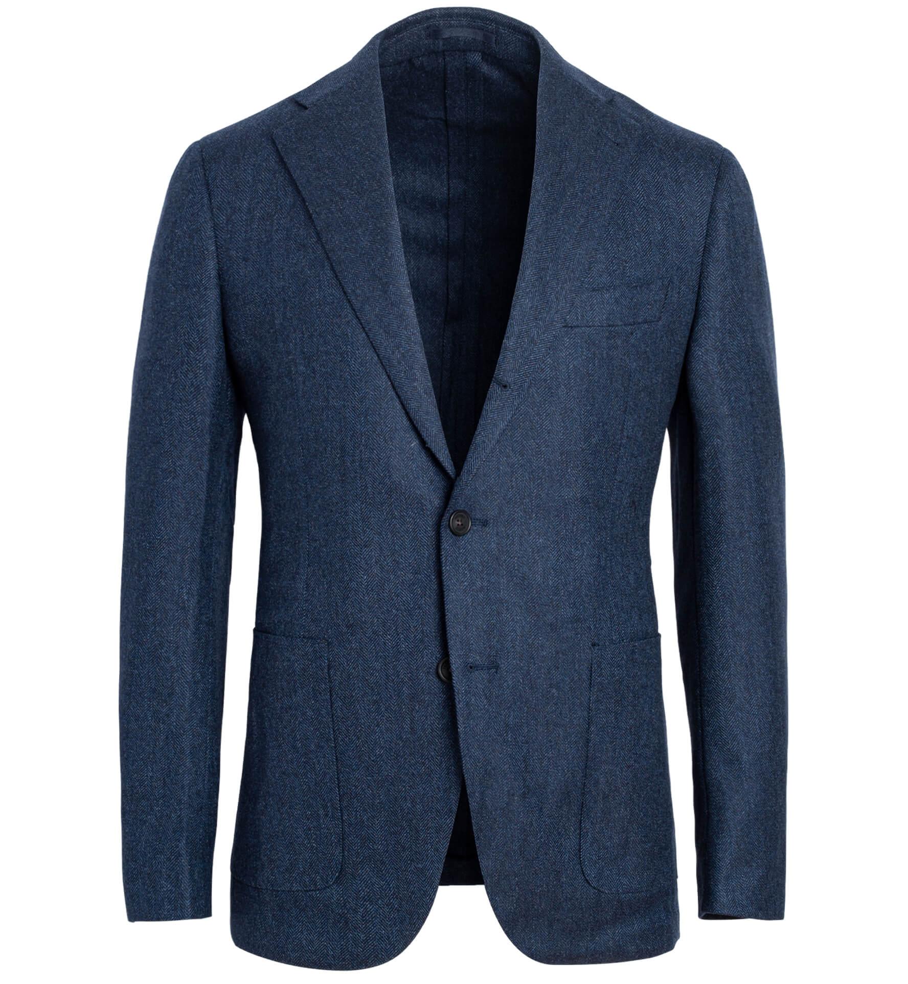 Zoom Image of Bedford Slate Wool Herringbone Jacket