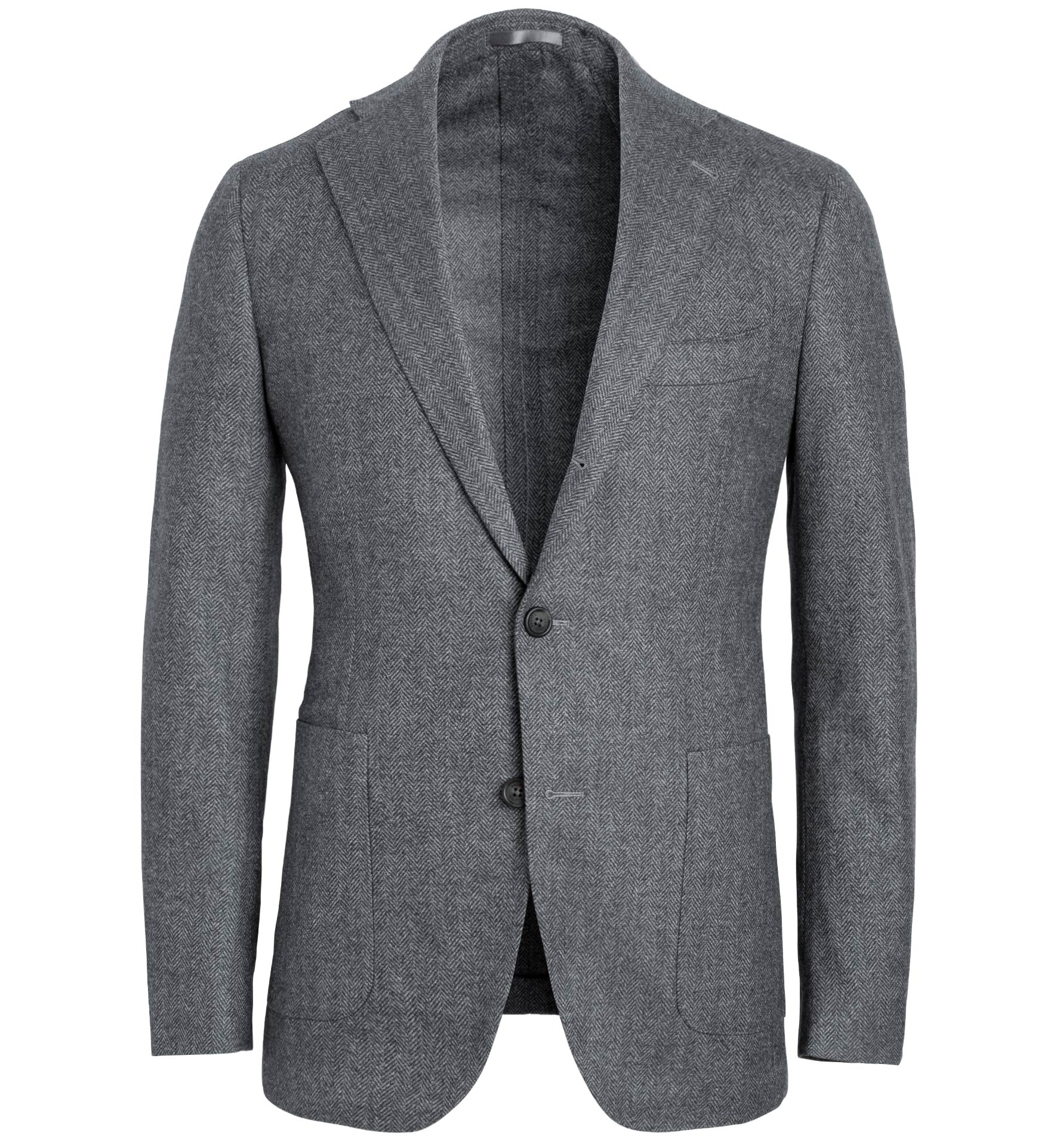 Zoom Image of Bedford Grey Wool Herringbone Jacket