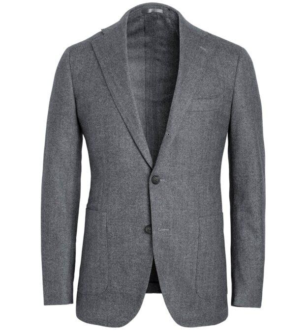 Bedford Grey Wool Herringbone Jacket