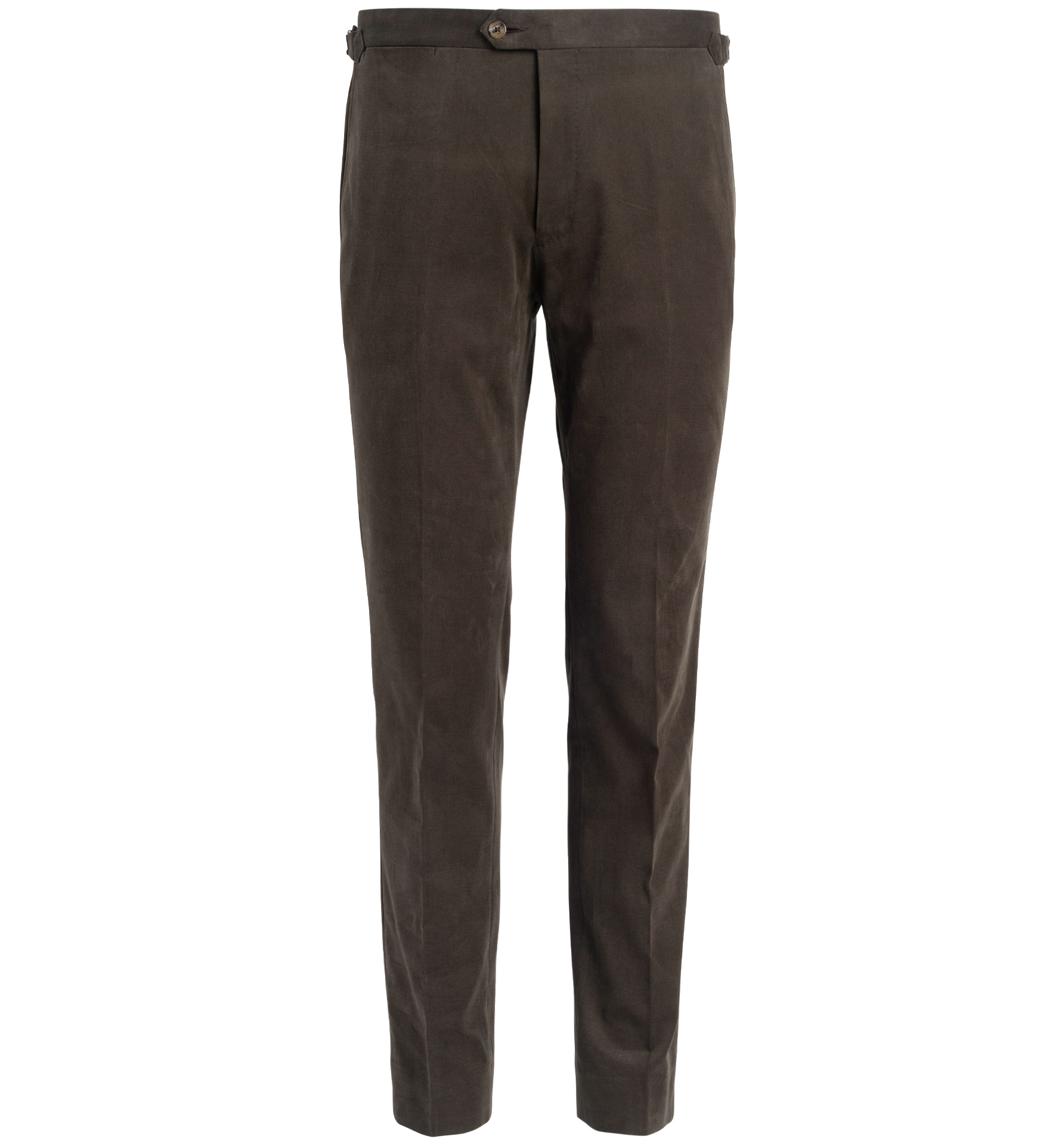 Zoom Image of Allen Olive Shaved Cotton Trouser