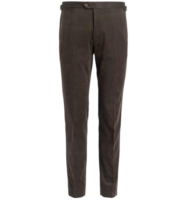 Allen Olive Shaved Cotton Trouser