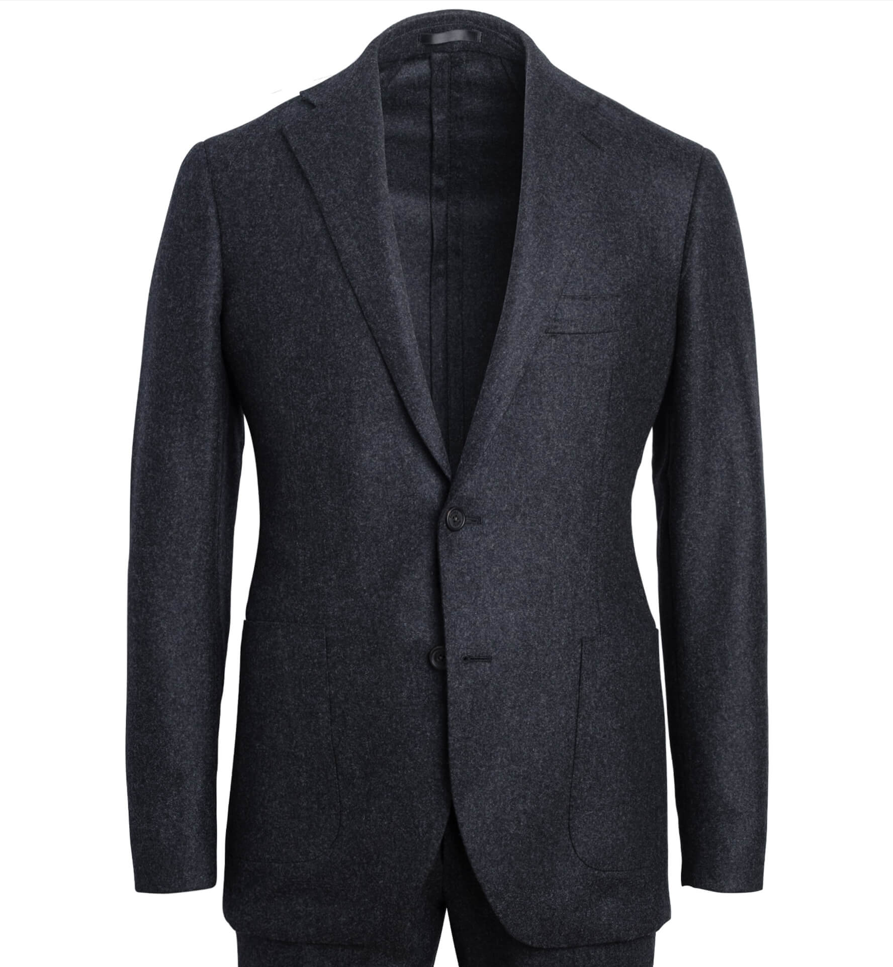 Zoom Image of Bedford Charcoal Wool Flannel Suit Jacket