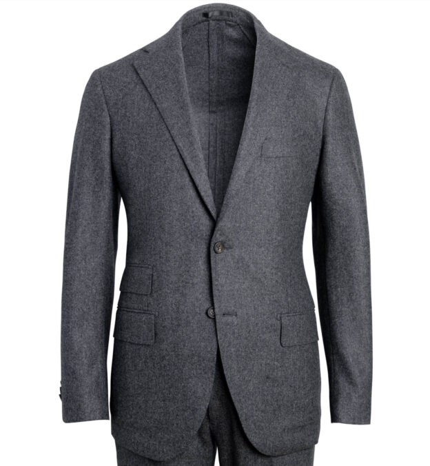 Allen Grey Wool Flannel Suit Jacket
