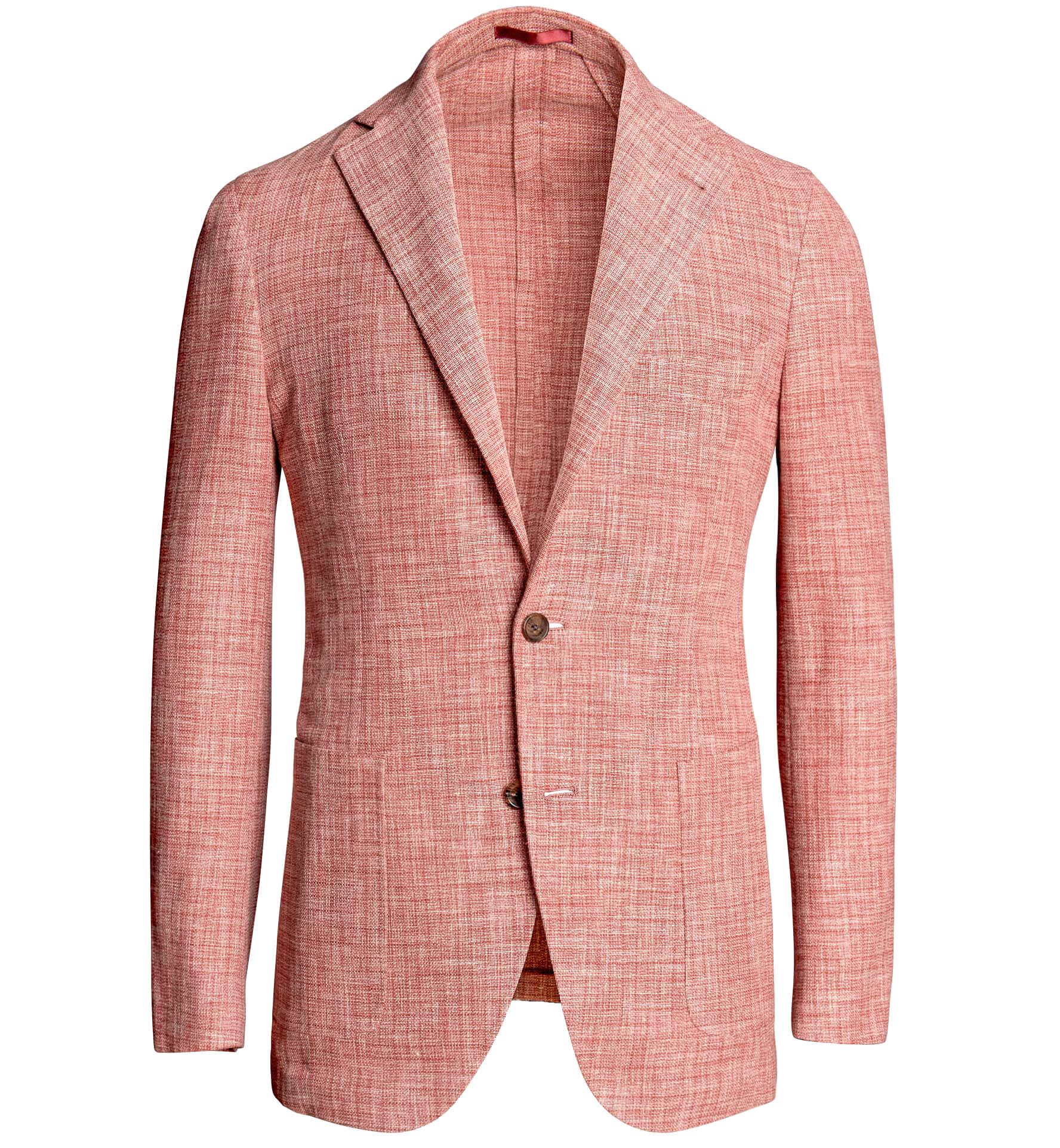 Zoom Image of Waverly Coral Wool Blend Gauze Weave Jacket
