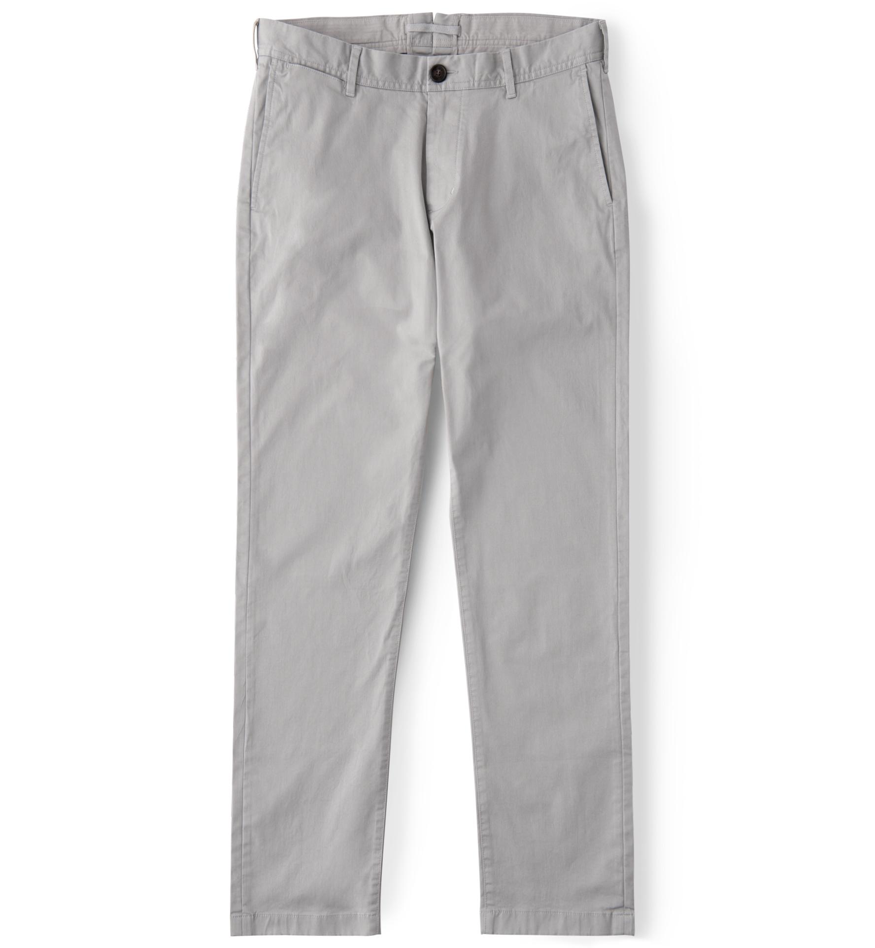 Zoom Image of Bowery Light Grey Stretch Cotton Chino