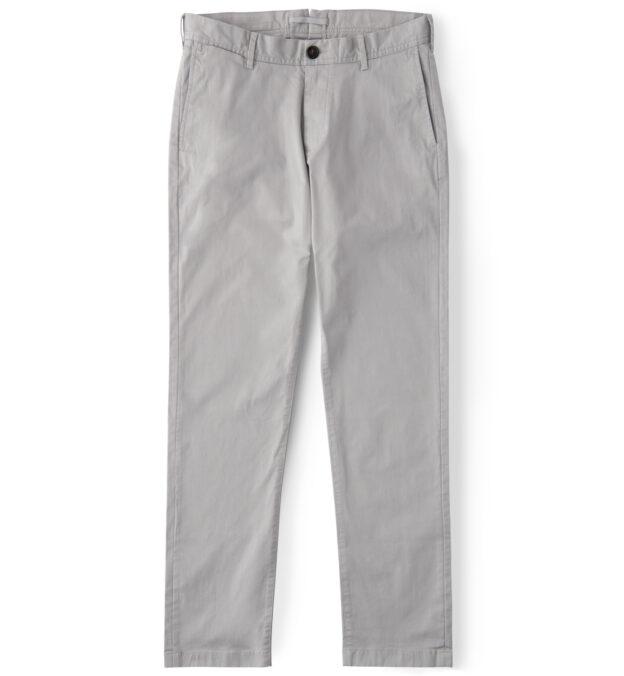 Bowery Light Grey Stretch Cotton Chino